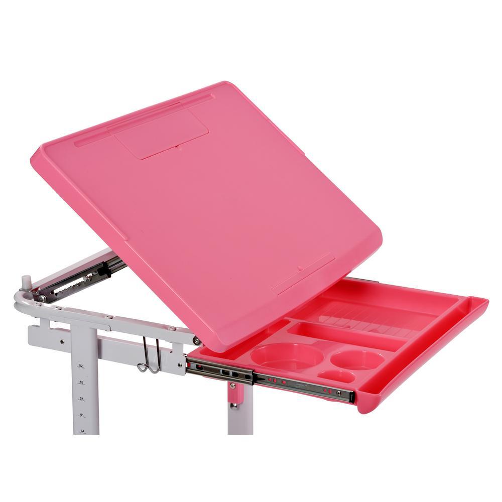 Astonishing Muscle Rack 2 Piece Pink Ergonomic Adjustable Kids Standing Creativecarmelina Interior Chair Design Creativecarmelinacom