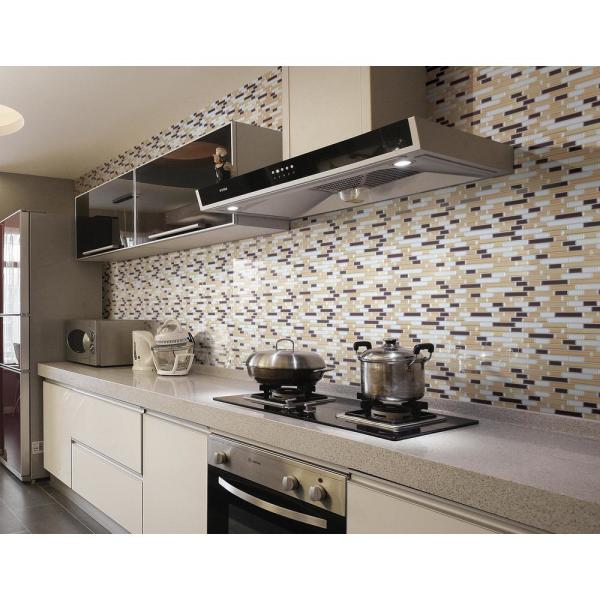 Art3d 12 In X 12 In Multi Color Self Adhesive Decorative Wall Tile Backsplash For Kitchen 10 Pack A17031p10 The Home Depot