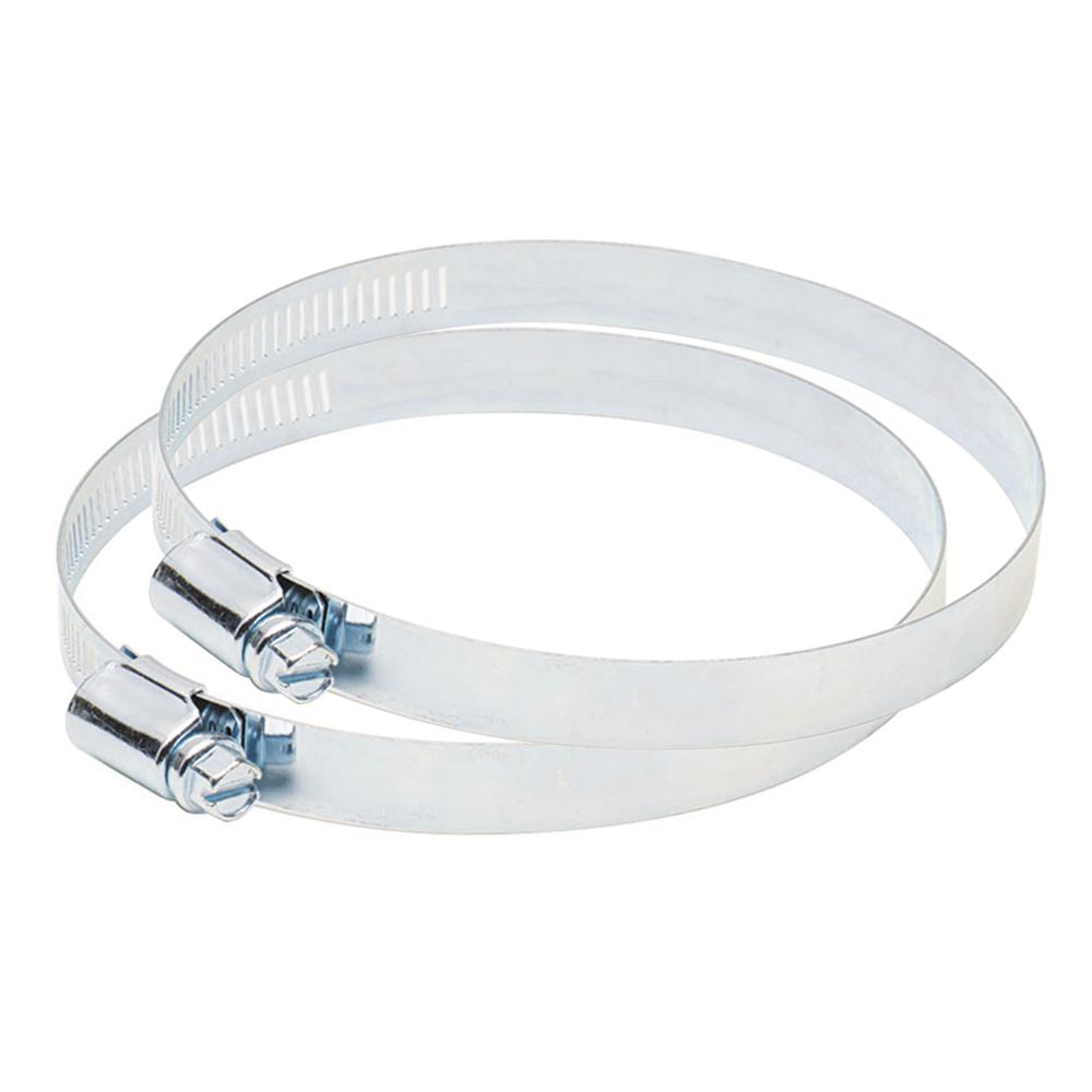 Deflect-o 4 in. Metal Worm Drive Clamps - 2 pack
