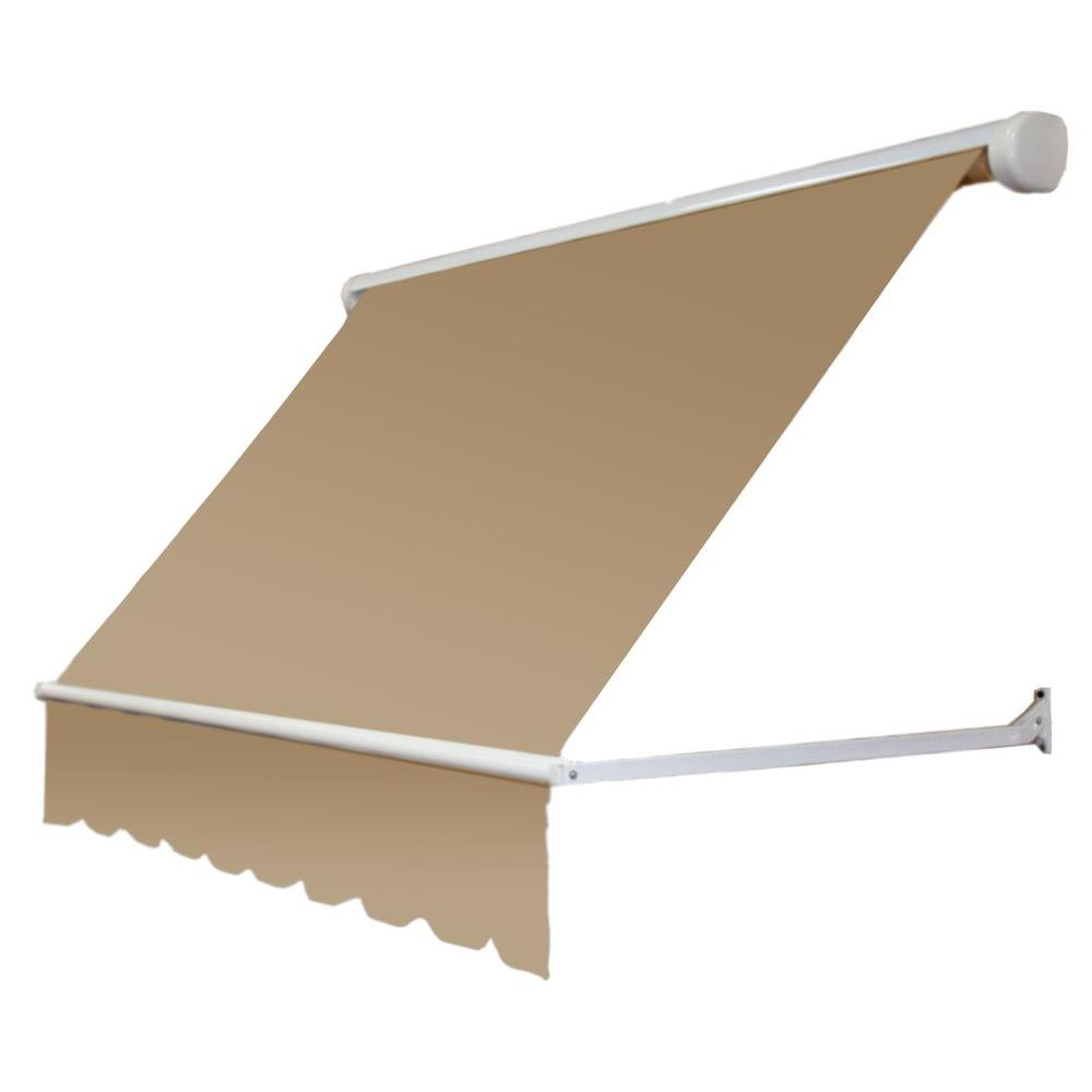 5 ft. Mesa Window Retractable Awning (24 in. Projection) in Tan
