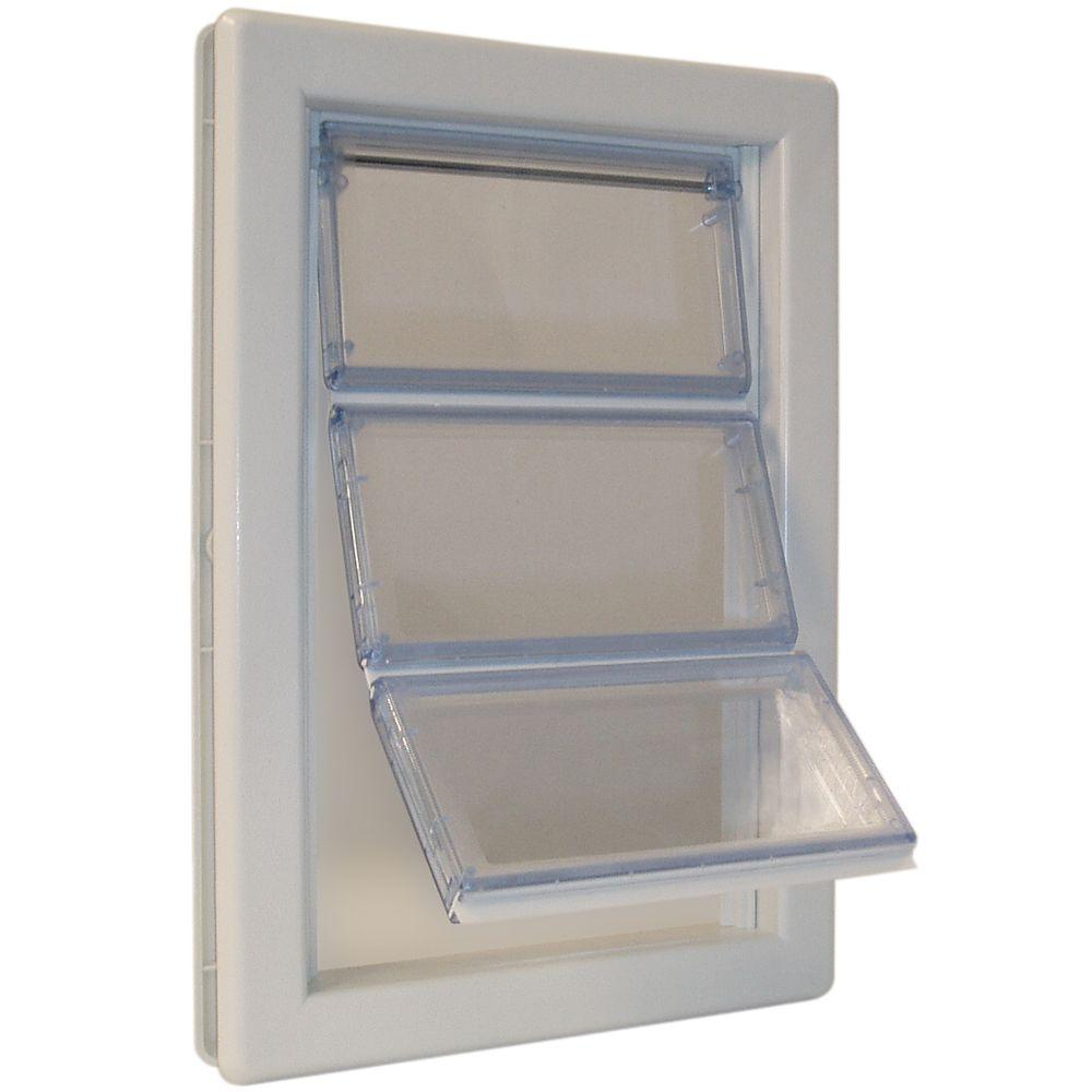 Ideal Pet 6 58 In X 11 14 In Medium Airseal Pet Door Asm The