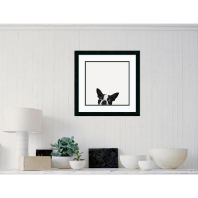 "22 in. W x 22 in. H ""Loyalty (Dog)"" by Jon Bertelli Framed Art Print"