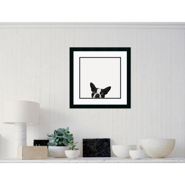 22 in. W x 22 in. H ''Loyalty (Dog)'' by Jon Bertelli Framed Art Print