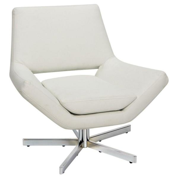 Ave Six Yield White Faux Leather Office Chair Yld5130 W32 The Home