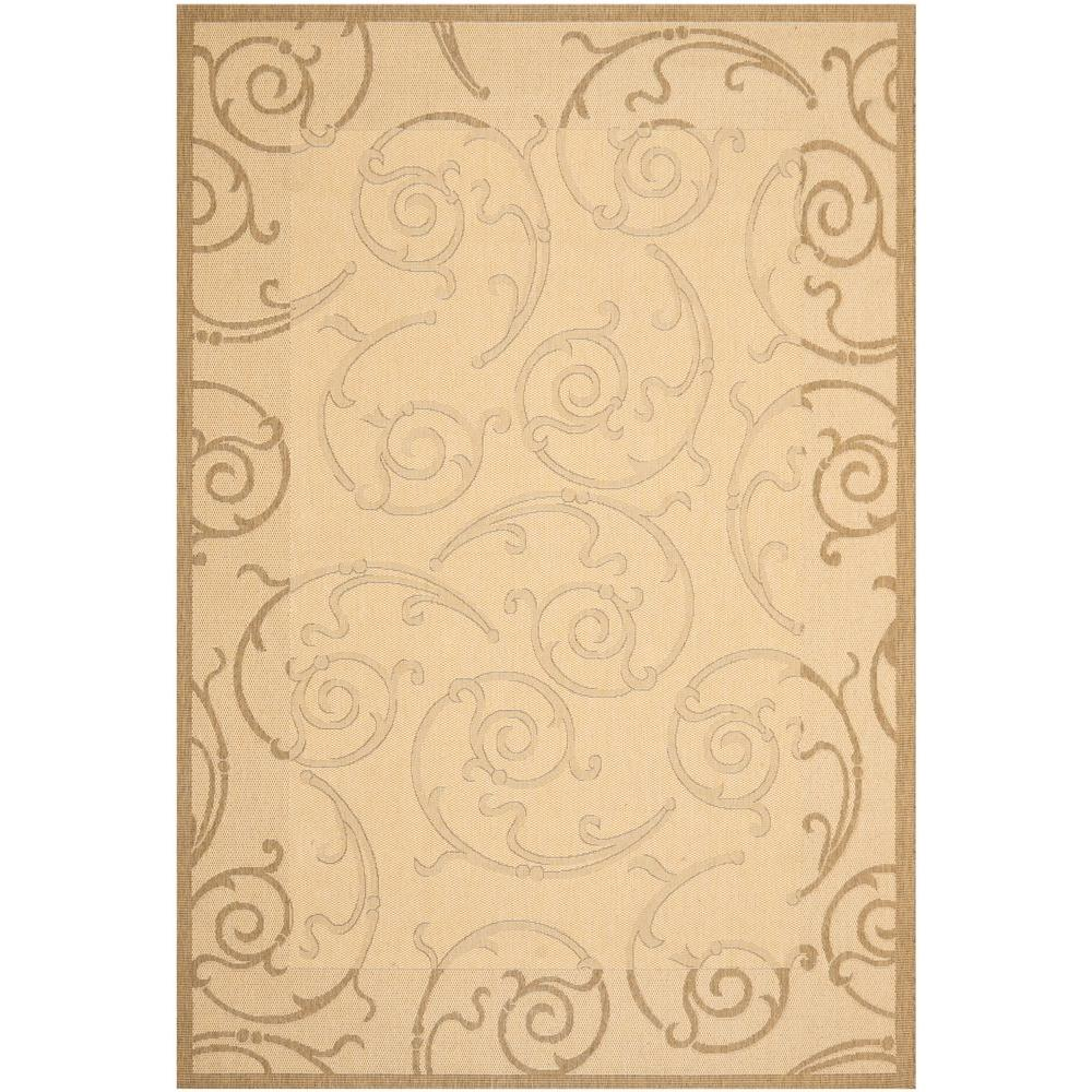 Courtyard Natural/Brown 6 ft. 7 in. x 9 ft. 6 in.