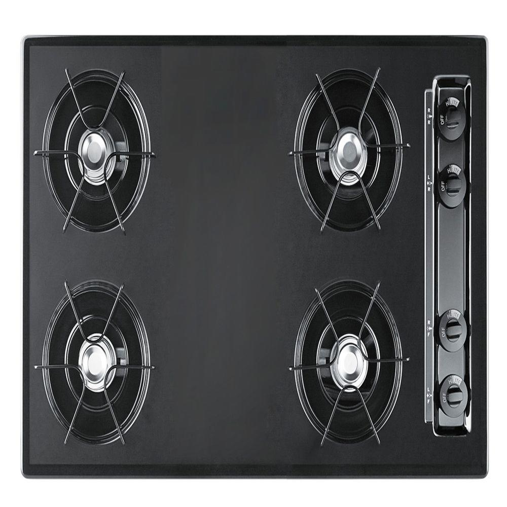 null 30 in. Gas Cooktop in Black with 4 Burners