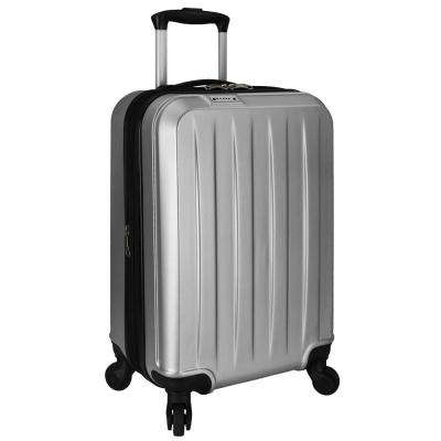 Elite Dori Expandable Carry-On Spinner Luggage, Silver
