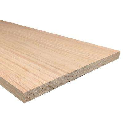 1 in. x 12 in. x Random Length S4S Oak Board