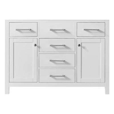 Colette 48 in. W x 22 in. D x 34.2 in. H Bath Vanity Cabinet Only in White