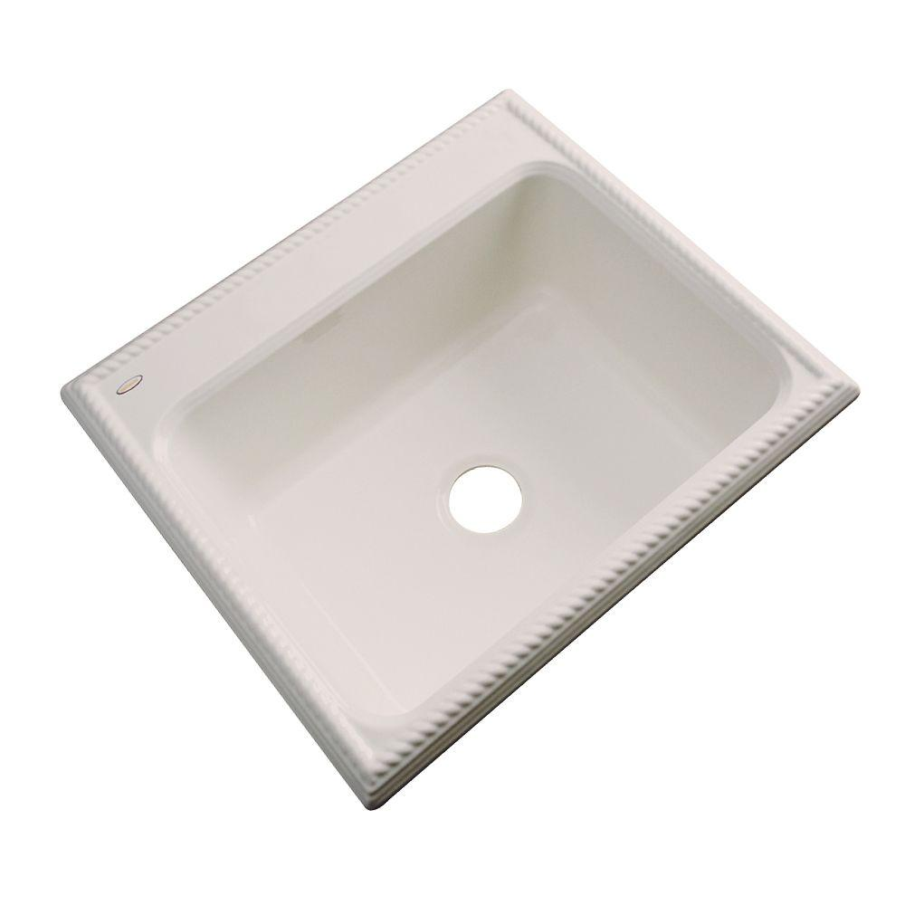 Thermocast Wentworth Drop-In Acrylic 25 in. Single Bowl Kitchen Sink in Desert Bloom