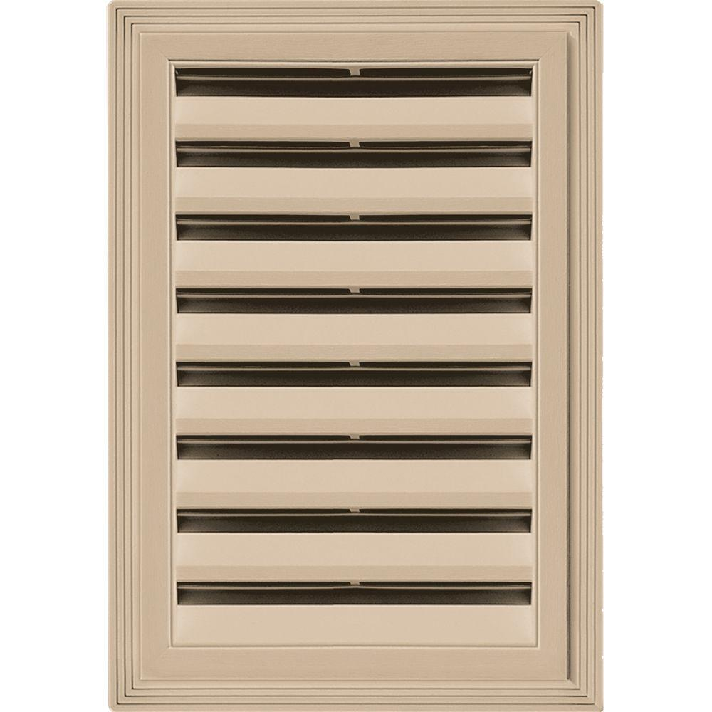 12 in. x 18 in. Rectangle Gable Vent #069 Tan