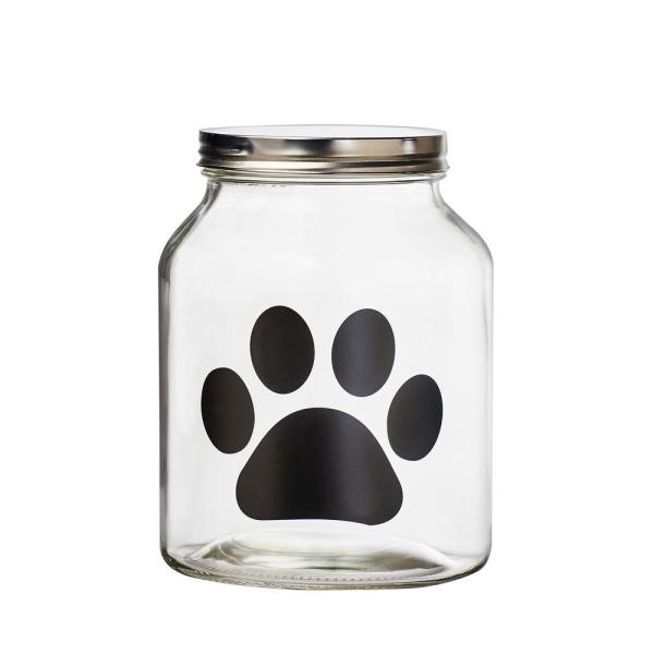 Amici Home Buddy Paw 108 oz. Glass Chalkboard Treats Canister 7CA113R