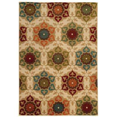 Amelia Medallion Multi 7 ft. 10 in. x 10 ft. Area Rug