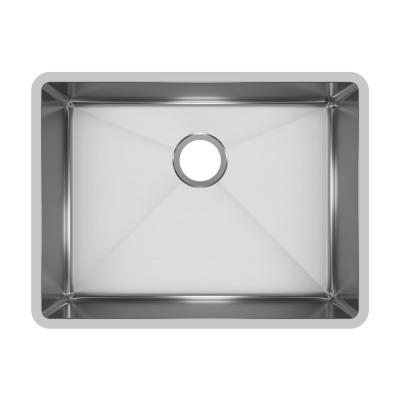 Crosstown Undermount Stainless Steel 24 in. Single Bowl Kitchen Sink