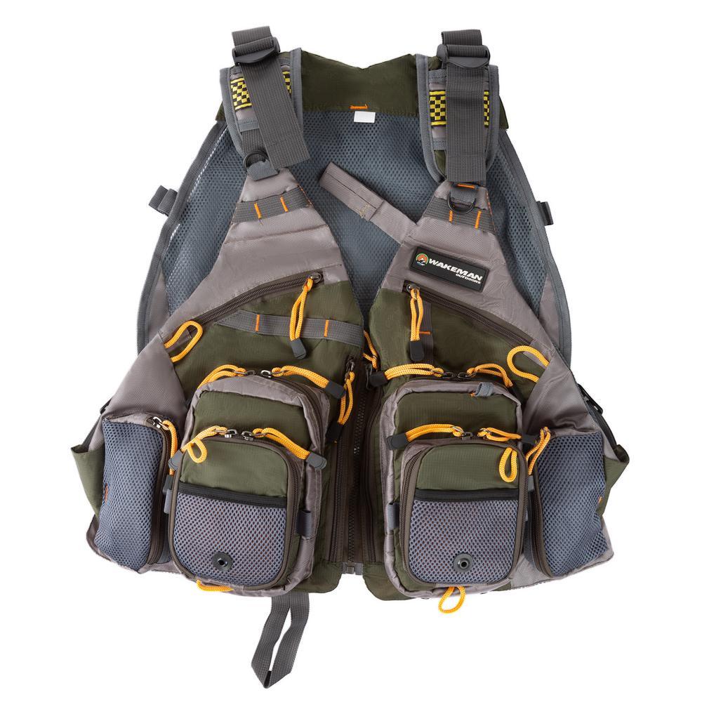 Wakeman Outdoors 18-Pocket Lightweight Tackle Fishing Vest