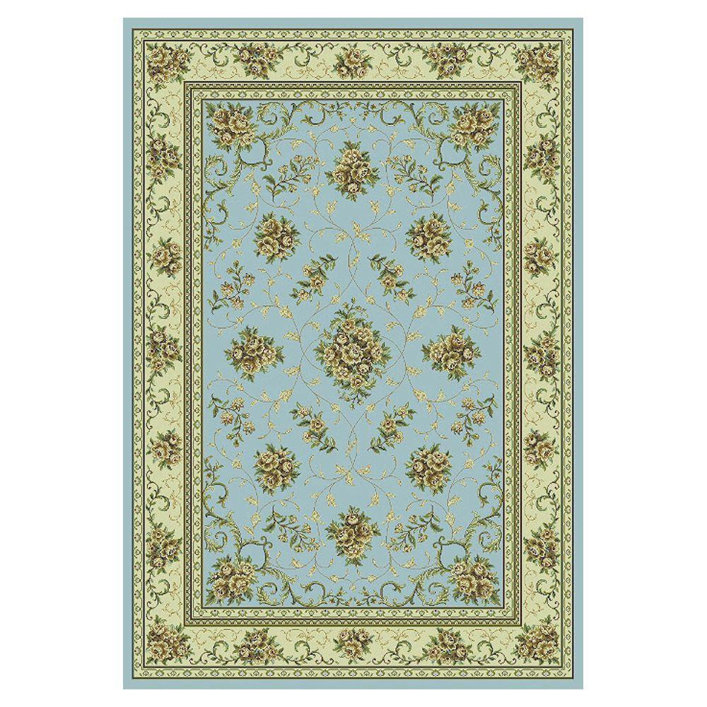 Kas Rugs Antique Artistry Blue 5 ft. 3 in. x 7 ft. 7 in. Area Rug-DISCONTINUED