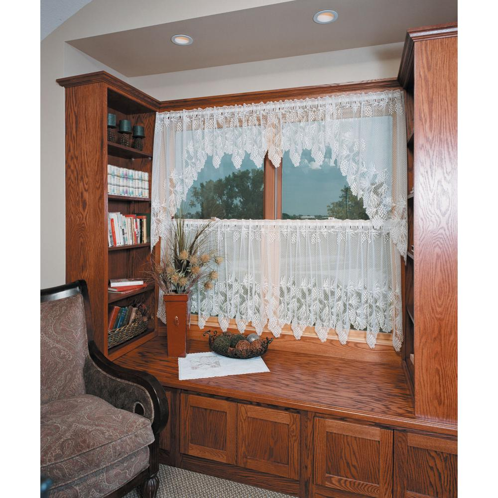 Heritage Lace Woodland 60 in. L Polyester Valance in White
