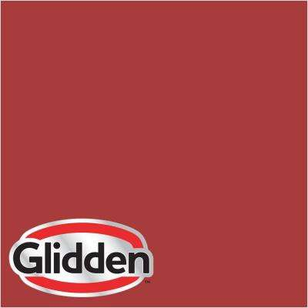 8 oz. #HDGR53D Crimson Red Semi-Gloss Interior Paint Sample