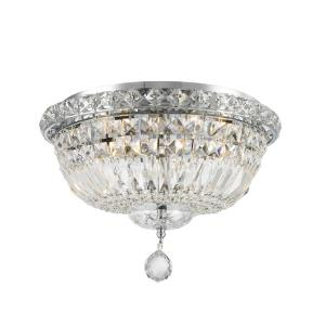 Worldwide Lighting Empire Collection 4-Light Chrome Ceiling Light with Clear Crystal by Worldwide Lighting