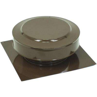 13 in. x 5 in. Aluminum 8 in. Dia. Low Profile 50 sq. in. NFA Roof Vent in Brown Powder Coat