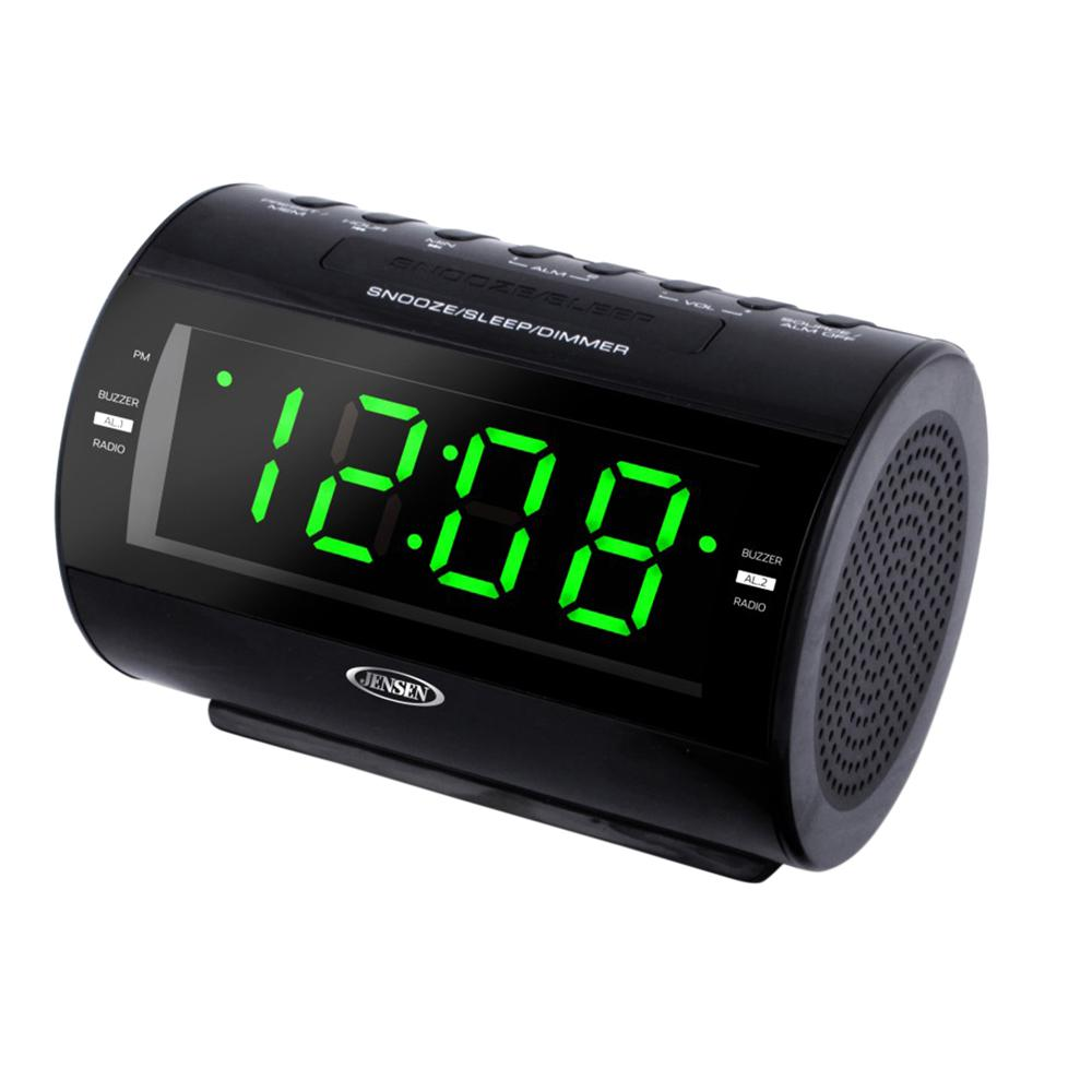 Jensen AM and FM Digital 1.2 in. Green LED Display Dual, ...