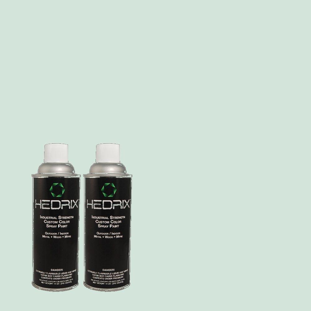 Hedrix 11 oz. Match of 1443 Robin's Egg Gloss Custom Spray Paint (2-Pack)