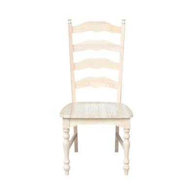 Maine Unfinished Wood Ladder Back Dining Chair (Set of 2)
