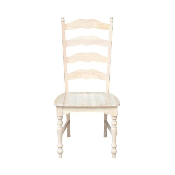 Unfinished Dining Room Chairs: International Concepts Maine Unfinished Wood Ladder Back