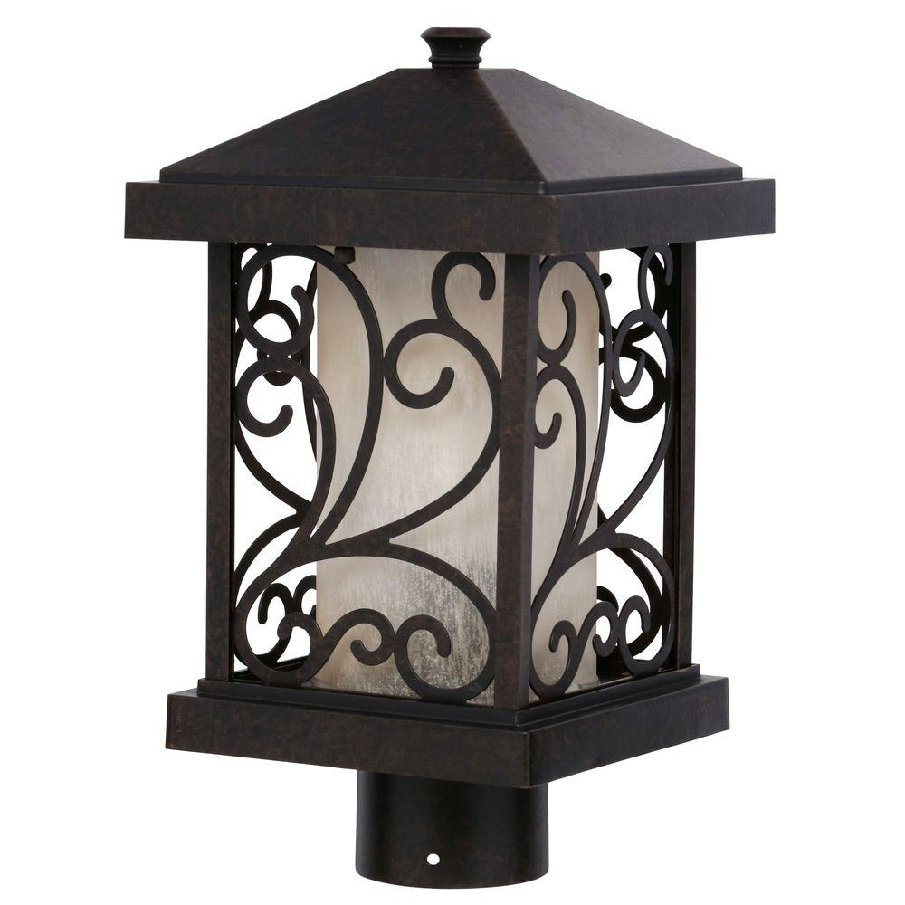 Progress Lighting Cypress Collection 1-Light Forged Bronze Post Lantern