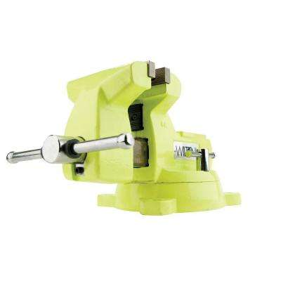 5 in. Mechanics High Visibility Safety Vise with Swivel Base, 3-3/4 in. Throat Depth