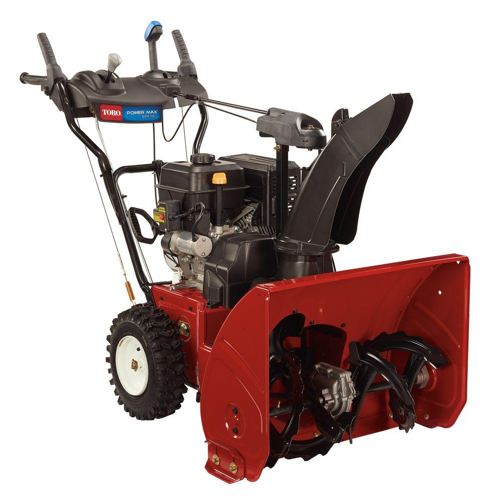 2 stage snow blower toro power max 826 oe 26 in 252cc two stage gas snow 28976
