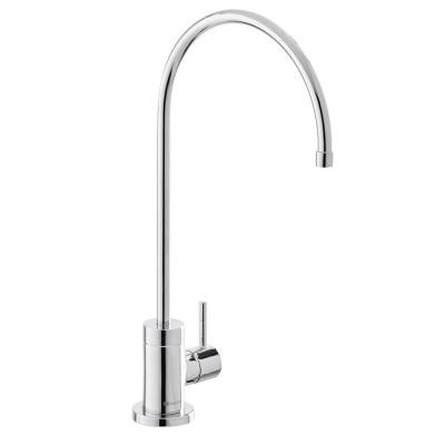 Modern Single-Handle Water Filtration Faucet in Chrome