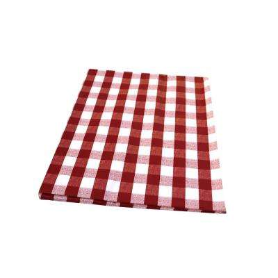 55 in. x 70 in. Indoor and Outdoor Red Checkered Design Tablecloth for Dining Table