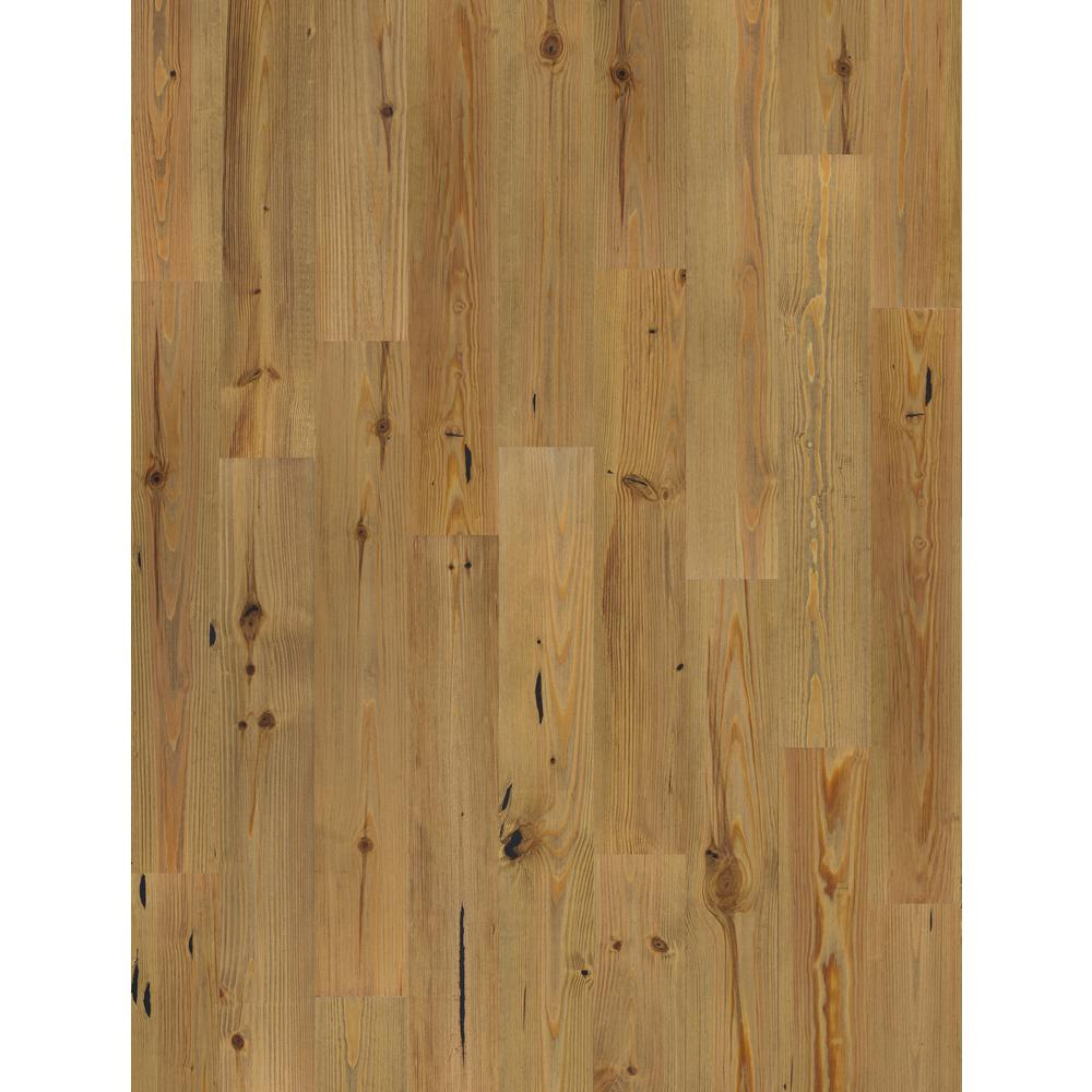 Beasley Wire-Brushed New Heart Pine 1/2 in. Thick x 7 in. Wide x Varying Length Engineered Hardwood Flooring (25.23 sq. ft.)