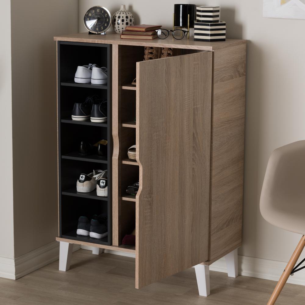 Adelina Light Brown Wood Storage Cabinet