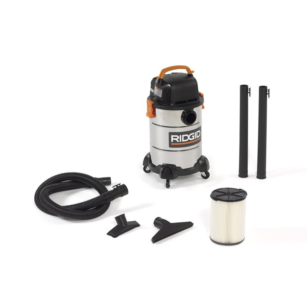 RIDGID 6 Gal. 4.25-Peak HP Stainless Steel Wet Dry Vac