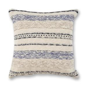 Ivory Blue Juno 20 In X 20 In Decorative Pillow