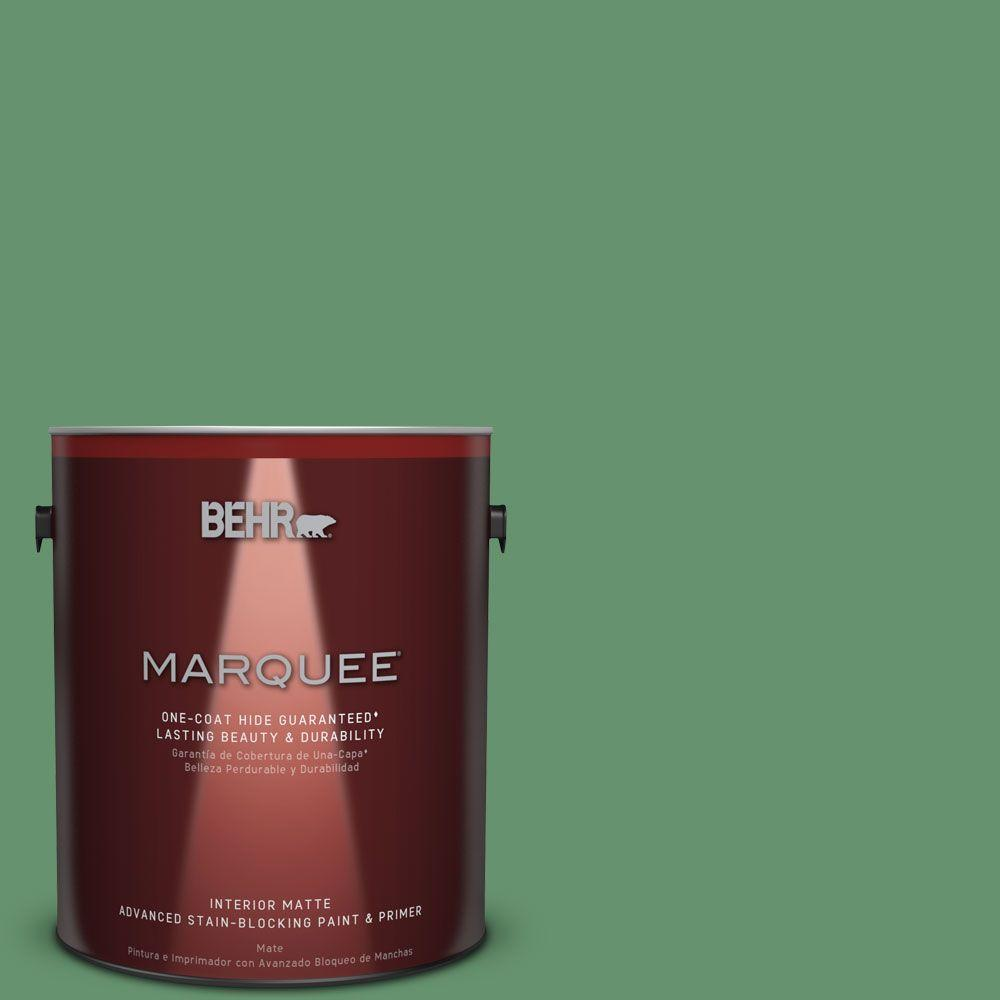 1 gal. #M410-6 Turtle Creek One-Coat Hide Matte Interior Paint