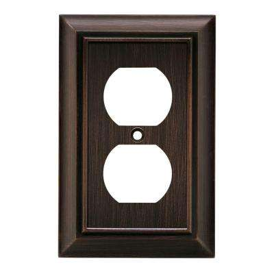 Architectural Decorative Single Duplex Outlet Cover, Venetian Bronze