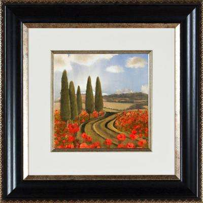 "21.25 in. x 21.25 in. ""Poppies Di Toscana A"" Framed Wall Art"