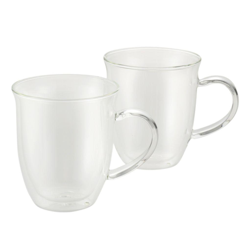 Coffee 2-Piece Insulated Glass Espresso Cup Set
