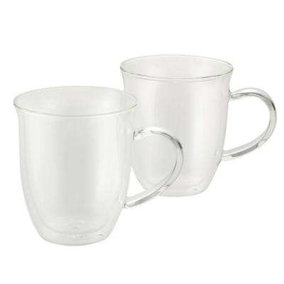 Coffee 2-Piece Insulated Glass Espresso Cup Set