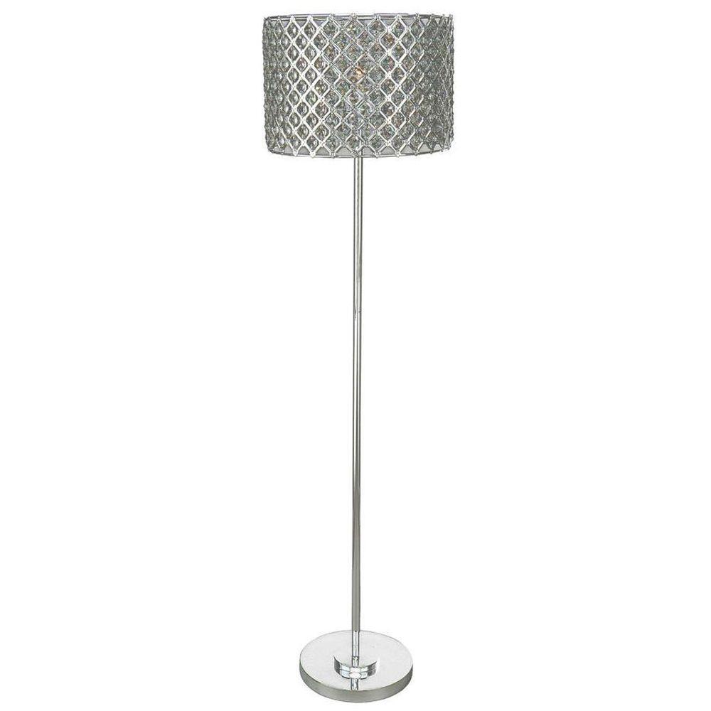 Gray hampton bay lamps lighting the home depot silver floor lamp geotapseo Choice Image
