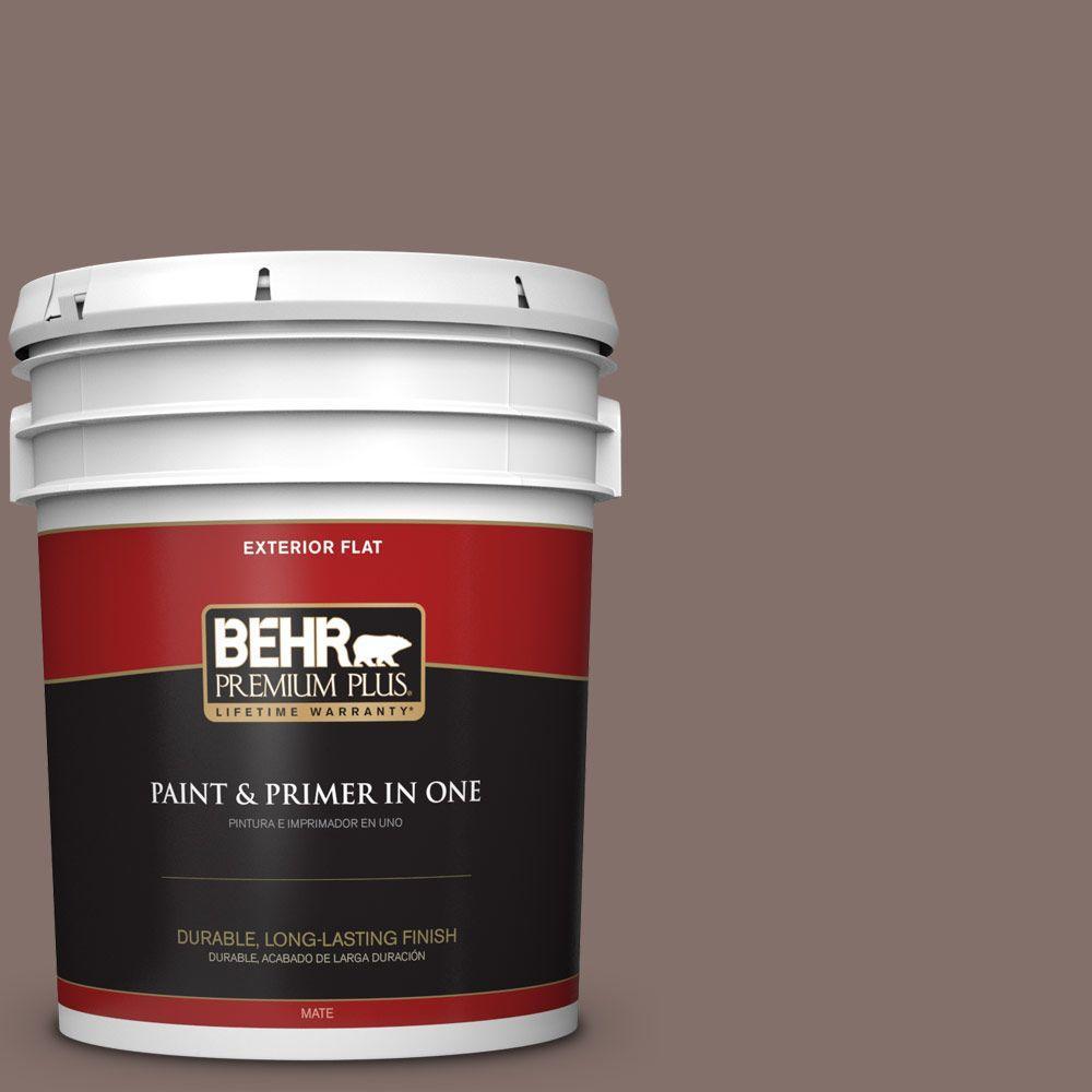5-gal. #740B-5 Bradford Brown Flat Exterior Paint
