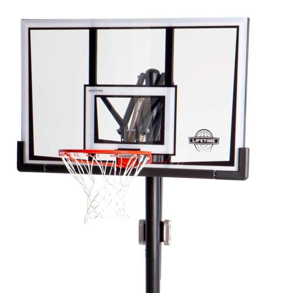 Lifetime 52 in. in-Ground Front Adjust Basketball System