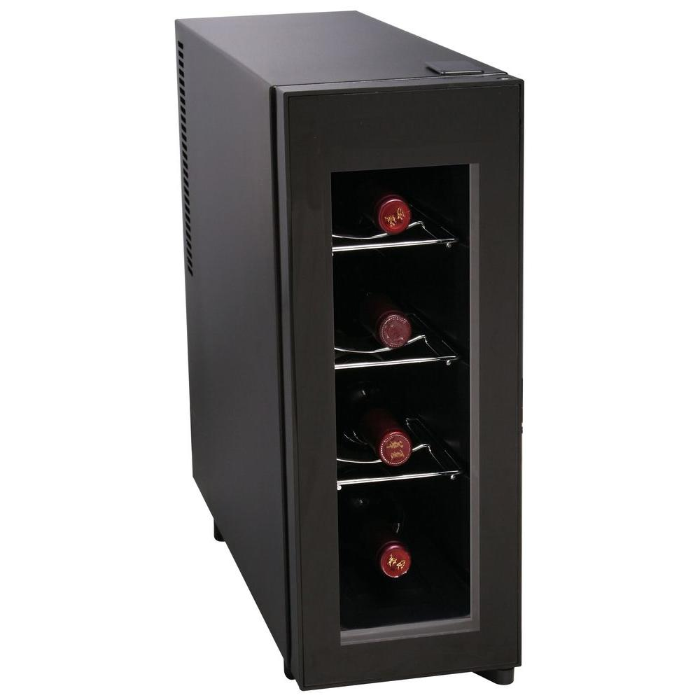 Igloo single zone in 4 bottle wine cooler frw041 for Modern homes 8 bottle wine cooler