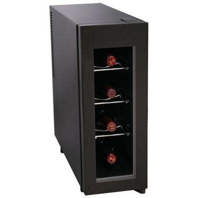 Single Zone 8.07 in. 4-Bottle Freestanding Wine Cooler