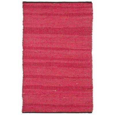 Zola Red/Charcoal 8 ft. x 11 ft. Indoor Area Rug