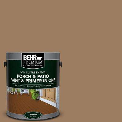 1 gal. #BXC-08 Safari Brown Low-Lustre Interior/Exterior Paint and Primer In One Porch and Patio Floor Paint