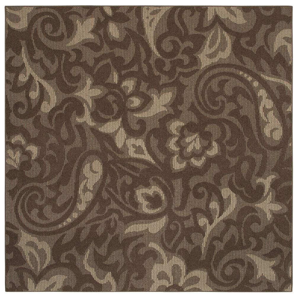 Mohawk Home Forte Dark Coco Taupe 8 ft. x 8 ft. Square Area Rug